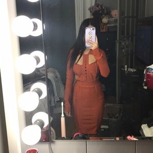 Orange sexy dress